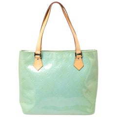 Louis Vuitton Mint Green Vernis Monogram Houston Bag