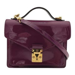 LOUIS VUITTON Monceau Shoulder bag in Purple Patent leather