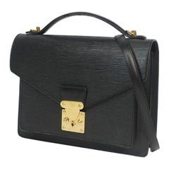 LOUIS VUITTON Monceau Womens handbag M52122 noir