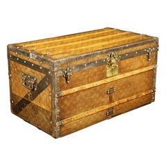 Louis Vuitton Monogram Woven Canvas Steamer Trunk, 1900s