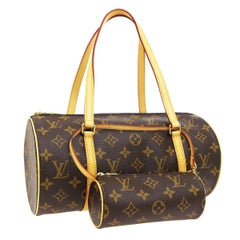 Louis Vuitton Monogram 2 in 1 Mini Round Pochette Top Handle Satchel Bags