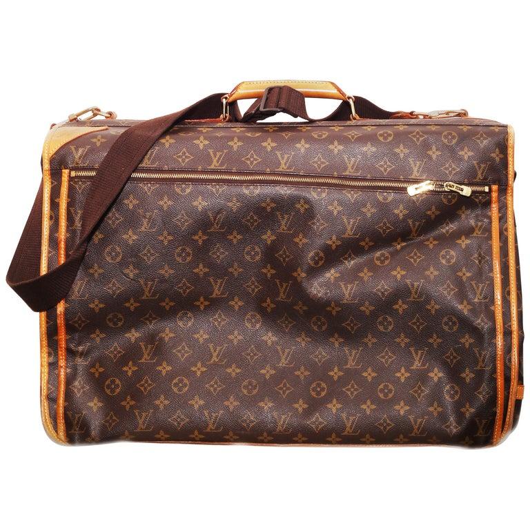 Louis Vuitton Monogram 56cm Garment Bag Luggage Carrier  For Sale