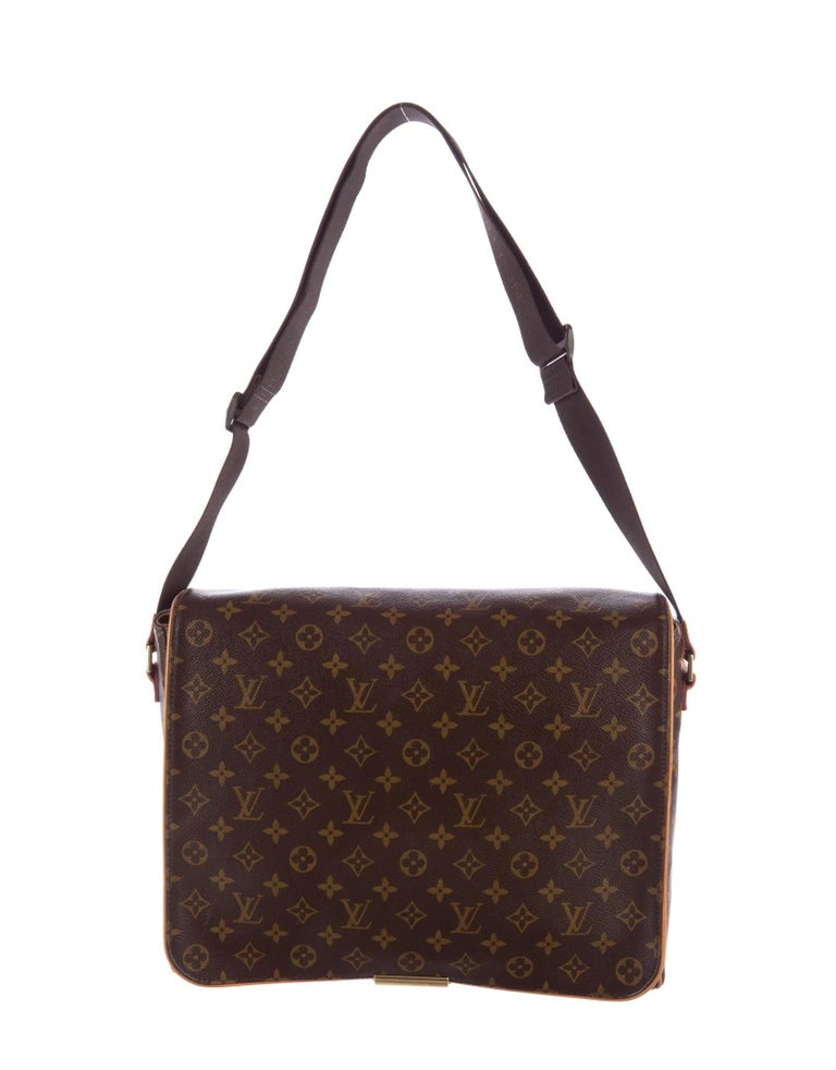 Black Louis Vuitton Monogram Abbesses Messenger School Book Laptop Bag For Sale