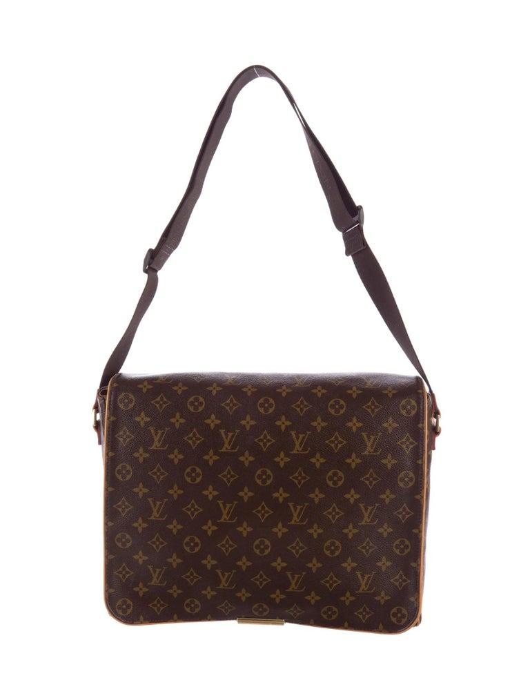 Black Louis Vuitton Monogram Abbesses Messenger School Book Laptop Bag For Sale