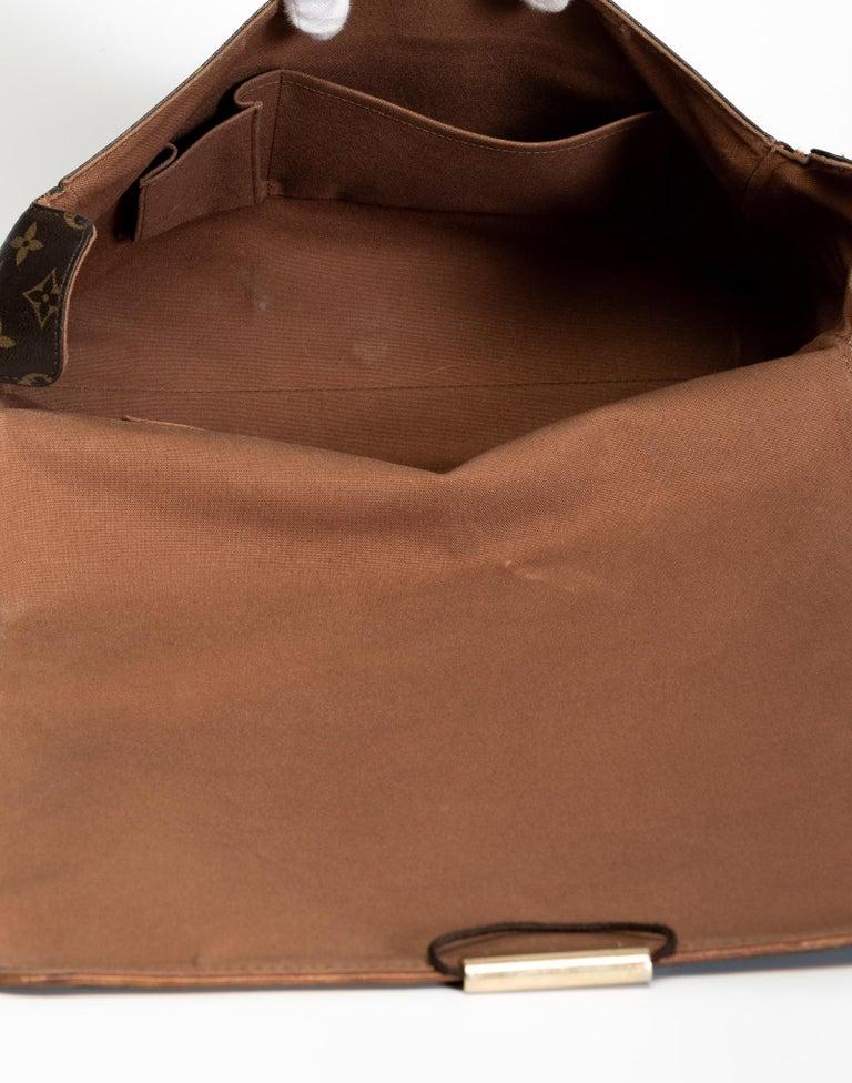 Louis Vuitton Monogram Abbesses Messenger School Book Laptop Bag For Sale 1