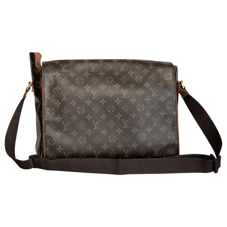Louis Vuitton Monogram Abbesses Messenger School Book Laptop Bag For Sale