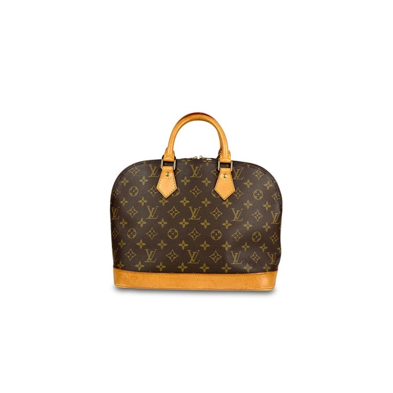 Black Louis Vuitton Monogram Alma PM Handbag For Sale