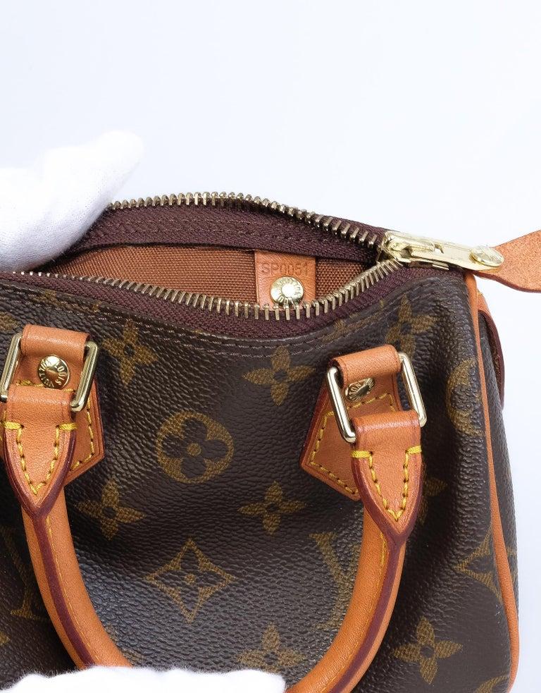 Louis Vuitton Monogram Bandouliere Nano Speedy Mini Handbag In Good Condition For Sale In Montreal, Quebec
