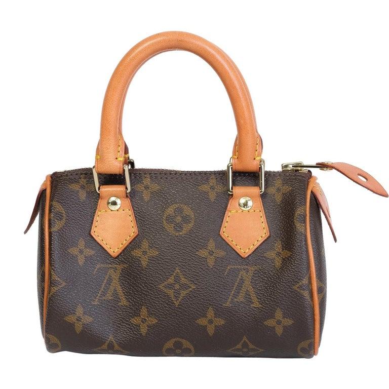 Louis Vuitton Monogram Bandouliere Nano Speedy Mini Handbag For Sale