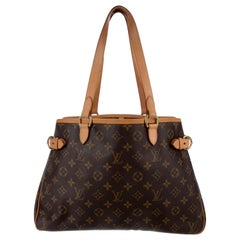 LOUIS VUITTON Monogram Batignolles Horizontal Brown Tote