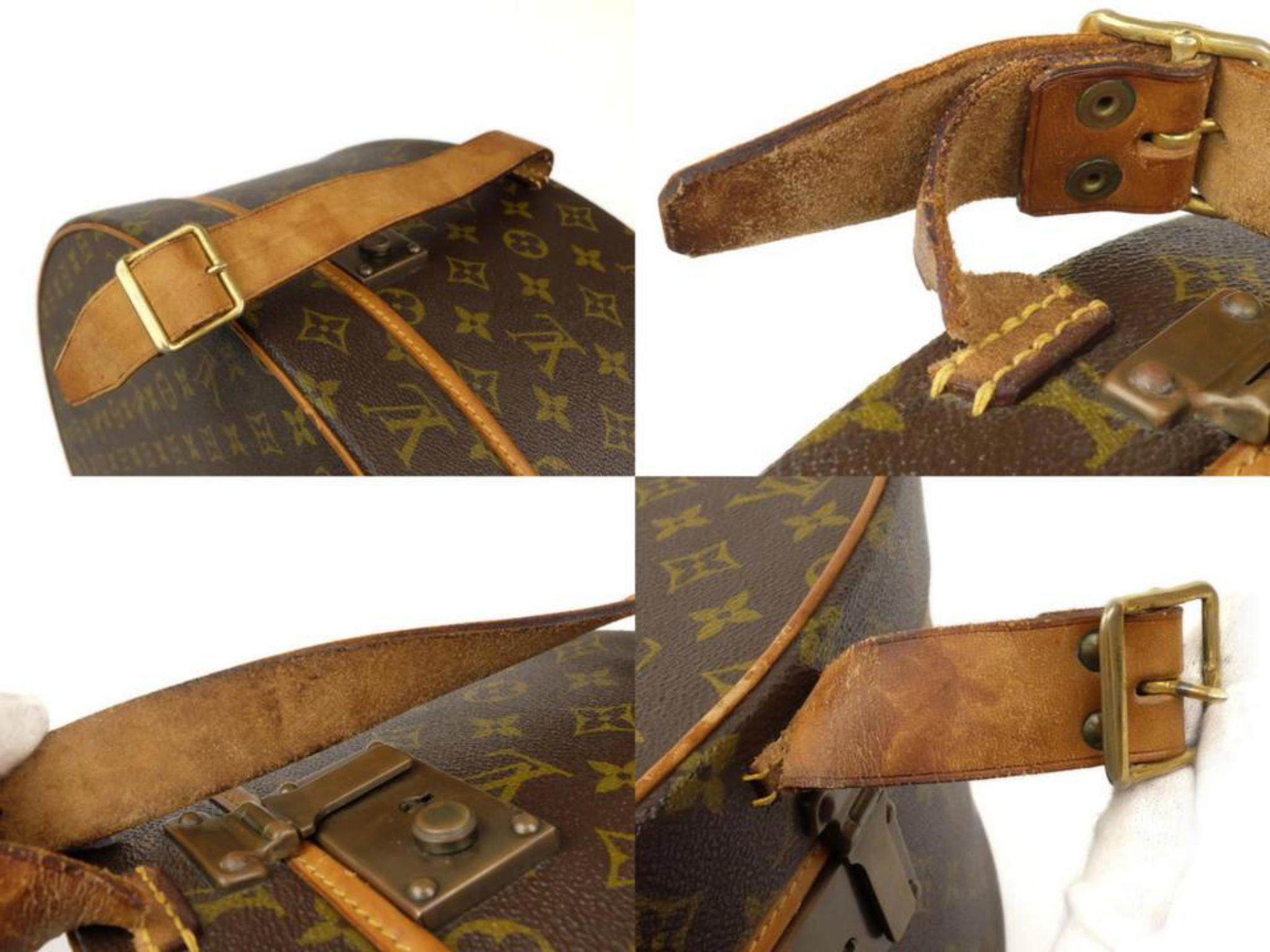 0f028abab543 Louis Vuitton Monogram Boite Chapeau Hat Box 50 226925 Brown Coated Canvas  Weeke For Sale at 1stdibs