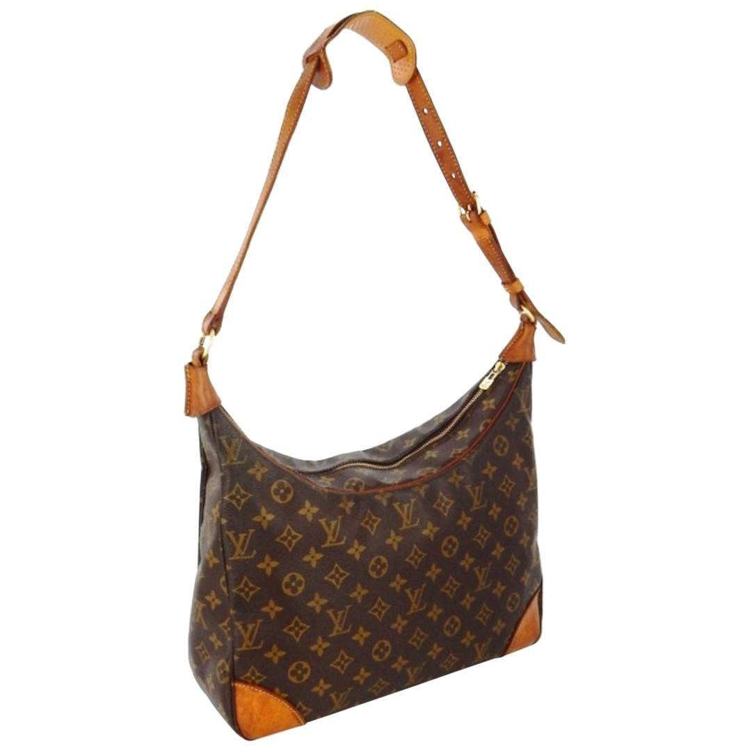 LOUIS VUITTON Monogram BOULOGNE 30 Shoulder Bag Satchel Handbag Purse Vintage