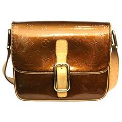 Louis Vuitton Monogram Bronze Vernis Christie GM Shoulder Bag