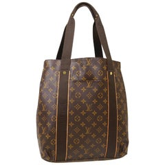 Louis Vuitton Monogram Brown Men's Women's Carryall Travel Top Handle Tote Bag