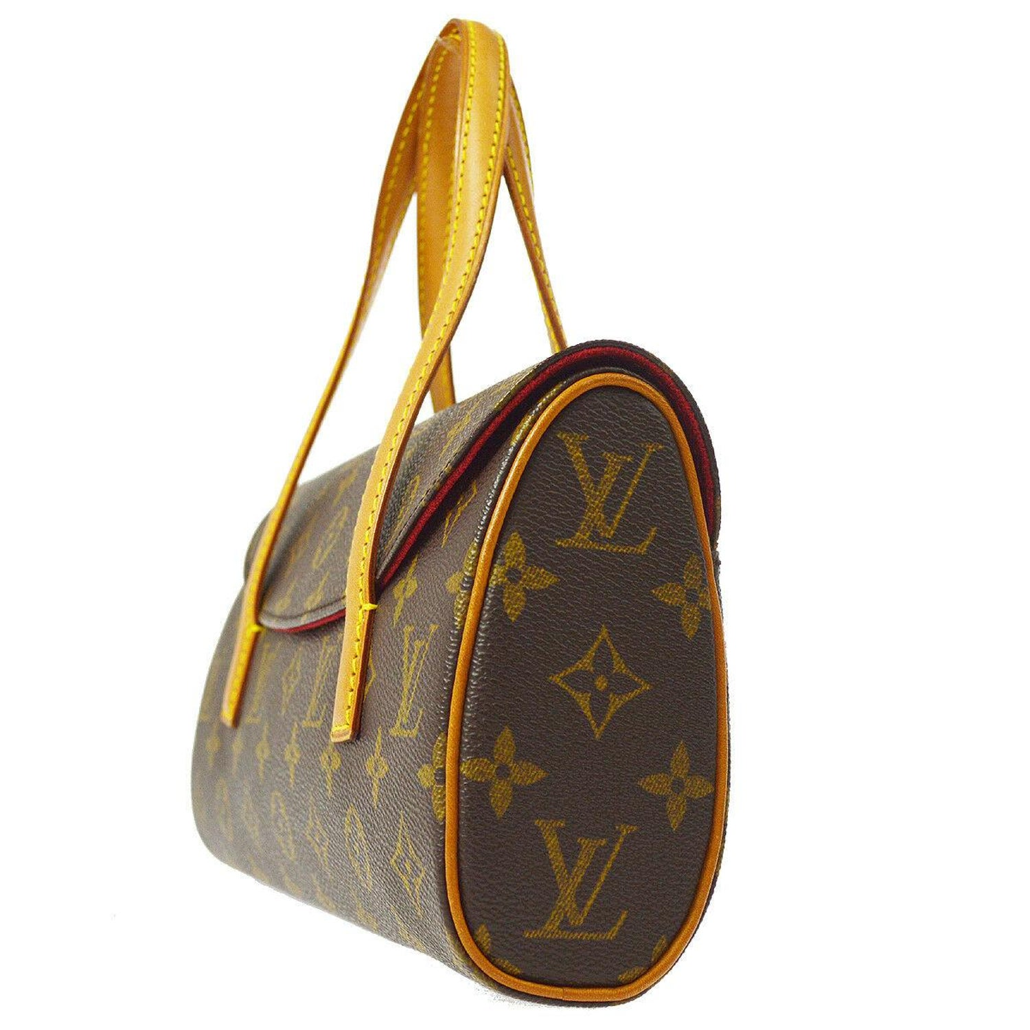 f90b7dd35983 Louis Vuitton Monogram Brown Top Handle Satchel Kelly Style Evening Flap Bag  For Sale at 1stdibs