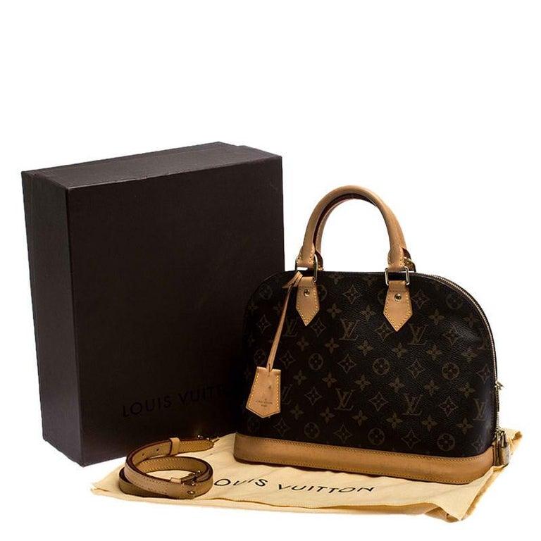 Louis Vuitton Monogram Canvas Alma PM Bag For Sale 7