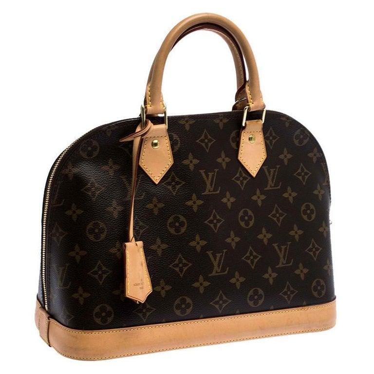 Women's Louis Vuitton Monogram Canvas Alma PM Bag For Sale
