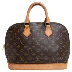 Louis Vuitton Monogram Canvas and Leather Alma PM Bag