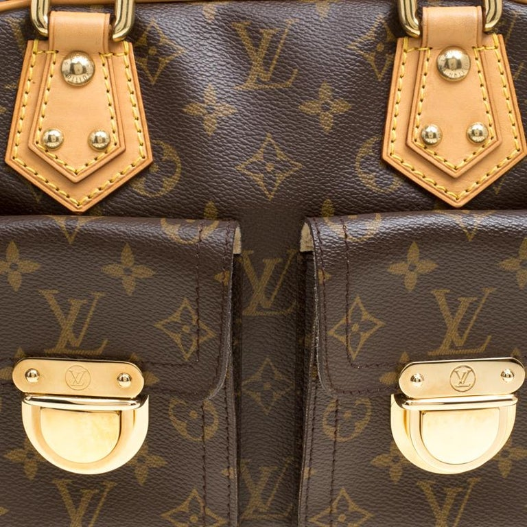 53906167cbe5 Louis Vuitton Monogram Canvas and Leather Manhattan PM Bag For Sale ...