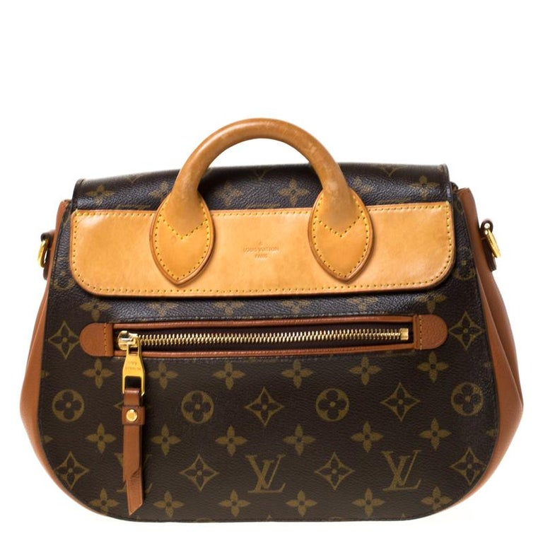 A perfect pick for endless style and fashion-filled sprees is this Eden. This Louis Vuitton creation has been beautifully crafted from Monogram canvas and leather and styled with a flap that has a push lock. The insides are lined with Alcantara and