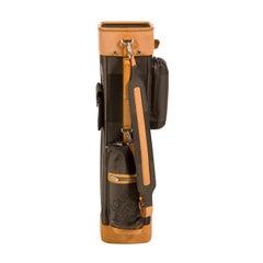 Louis Vuitton Monogram Canvas Brown Leather Golf Men's Women's Shoulder Tote Bag