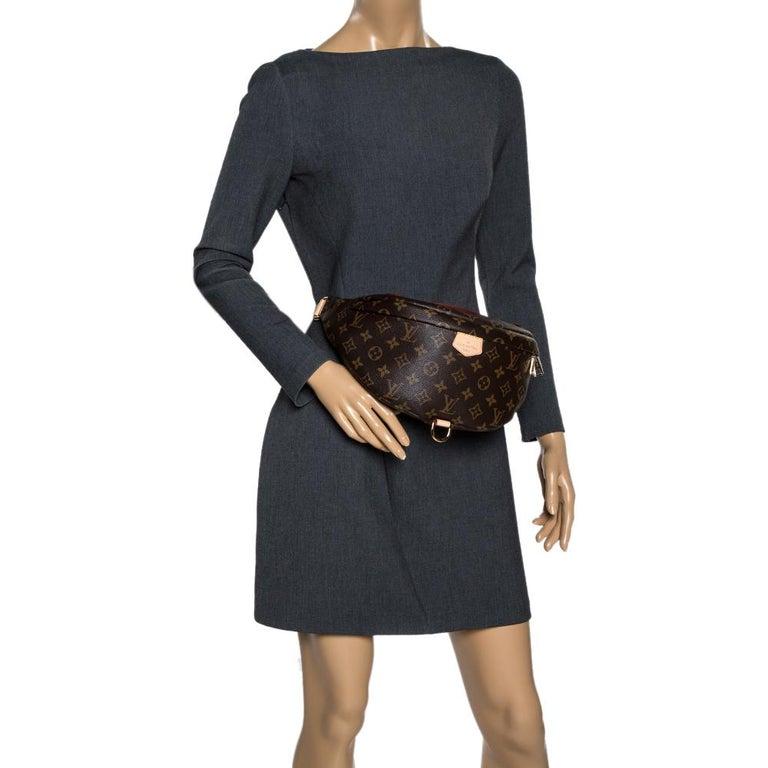 Black Louis Vuitton Monogram Canvas Bumbag MM Belt Bag For Sale