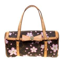Louis Vuitton Monogram Canvas Cherry Blossom Papillon Bowling Bag