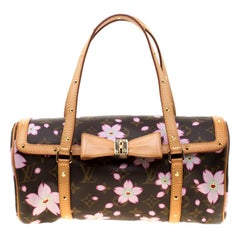 Louis Vuitton Monogram Canvas Cherry Blossom Papillon Bowling Bag