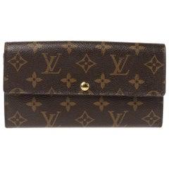 Louis Vuitton Monogram Canvas Flap Continental Wallet