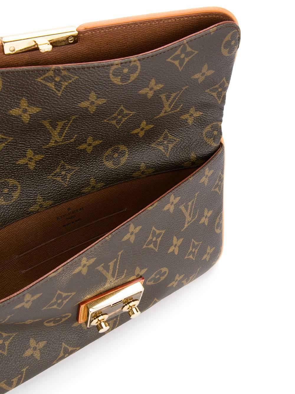 Louis Vuitton Monogram Canvas Gold Evening Clutch Foldover Flap Bag In Box I3SGujh8