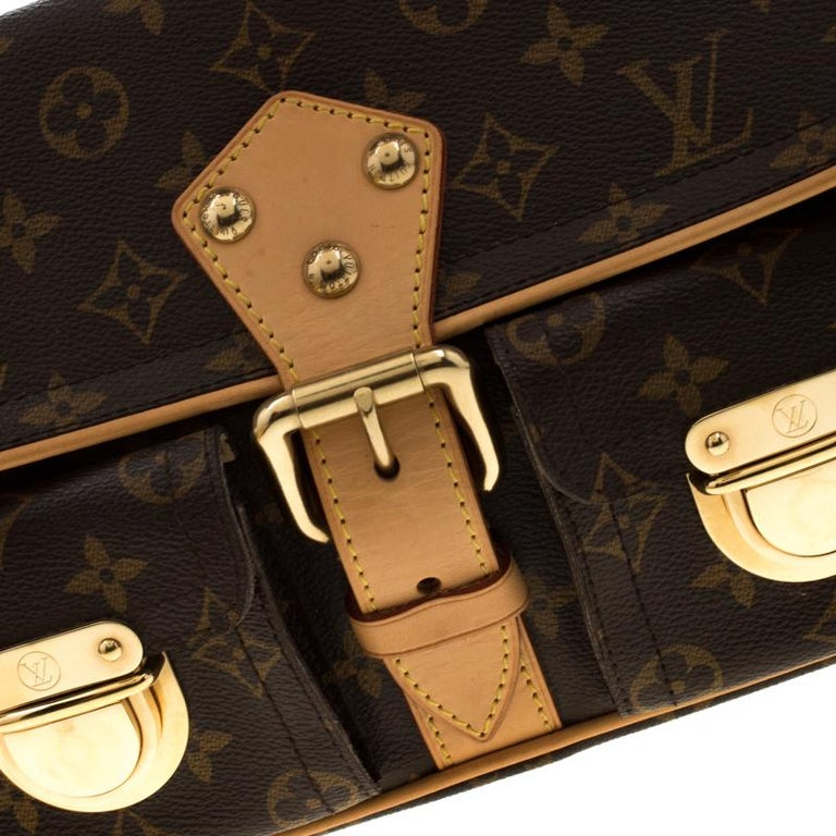 Louis Vuitton Monogram Canvas Hudson PM Bag For Sale 4