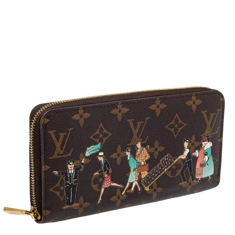 Black Louis Vuitton Monogram Canvas Illustre Zippy Wallet For Sale