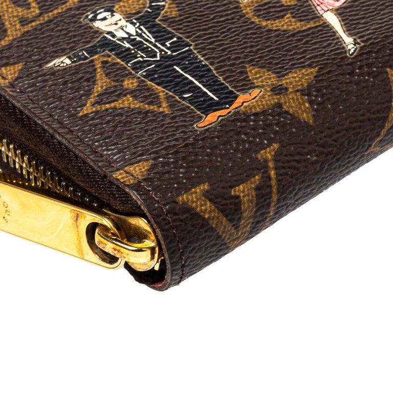 Women's Louis Vuitton Monogram Canvas Illustre Zippy Wallet For Sale