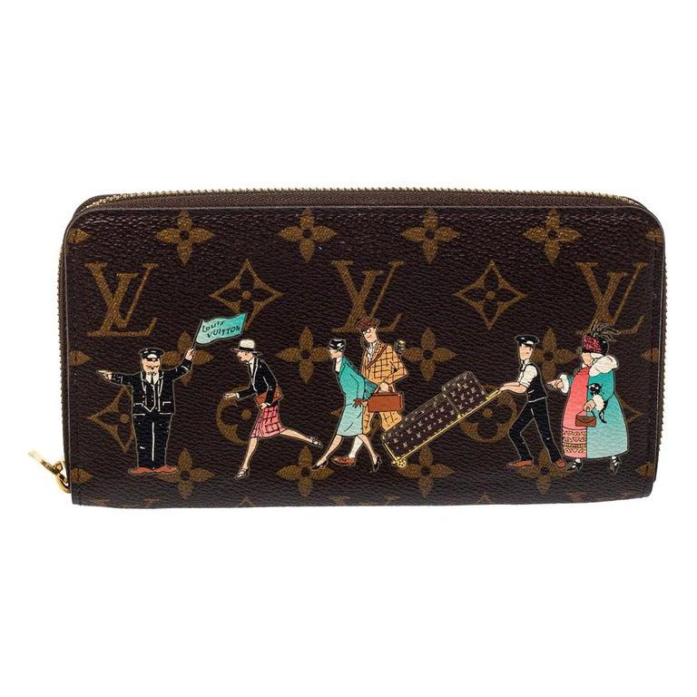 Louis Vuitton Monogram Canvas Illustre Zippy Wallet For Sale