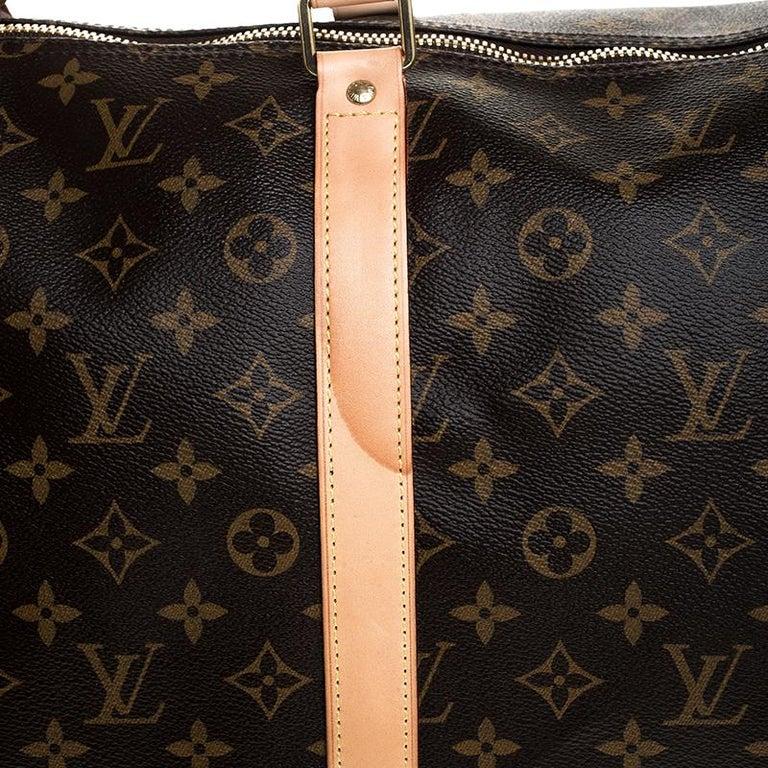 Louis Vuitton Monogram Canvas Keepall 55 Bag For Sale 2