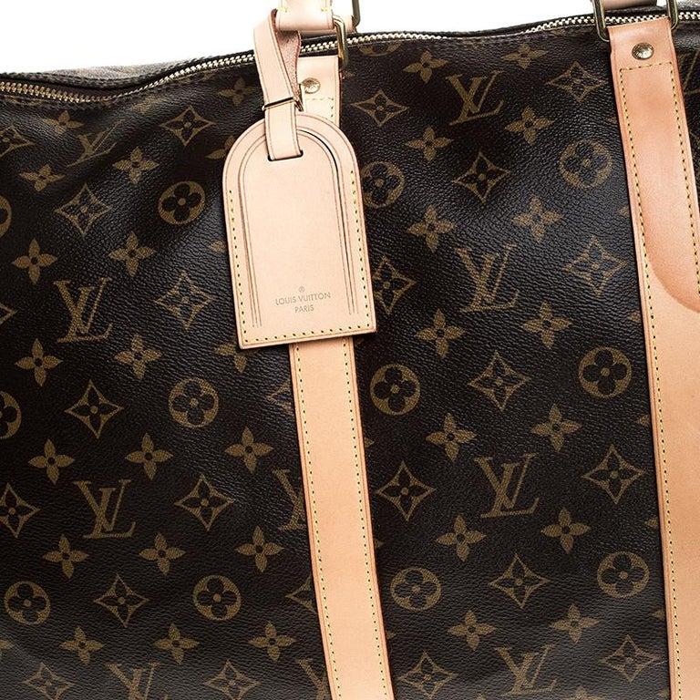 Louis Vuitton Monogram Canvas Keepall 55 Bag For Sale 4