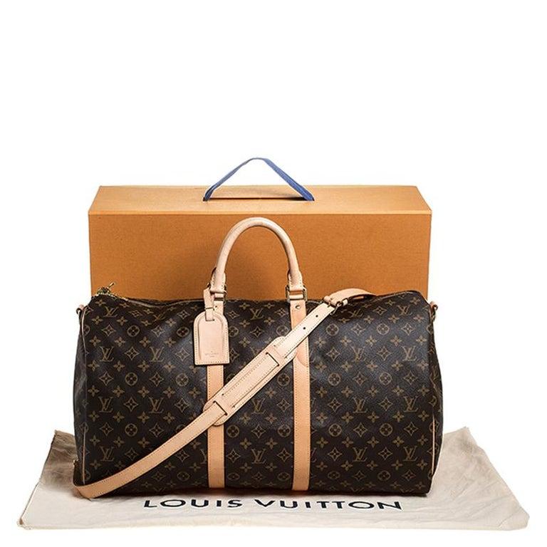 Louis Vuitton Monogram Canvas Keepall 55 Bag For Sale 5