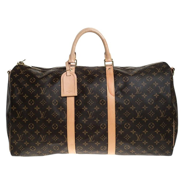 Louis Vuitton Monogram Canvas Keepall 55 Bag For Sale