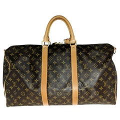 Louis Vuitton Monogram Canvas Keepall Bandouliere 50 Luggage