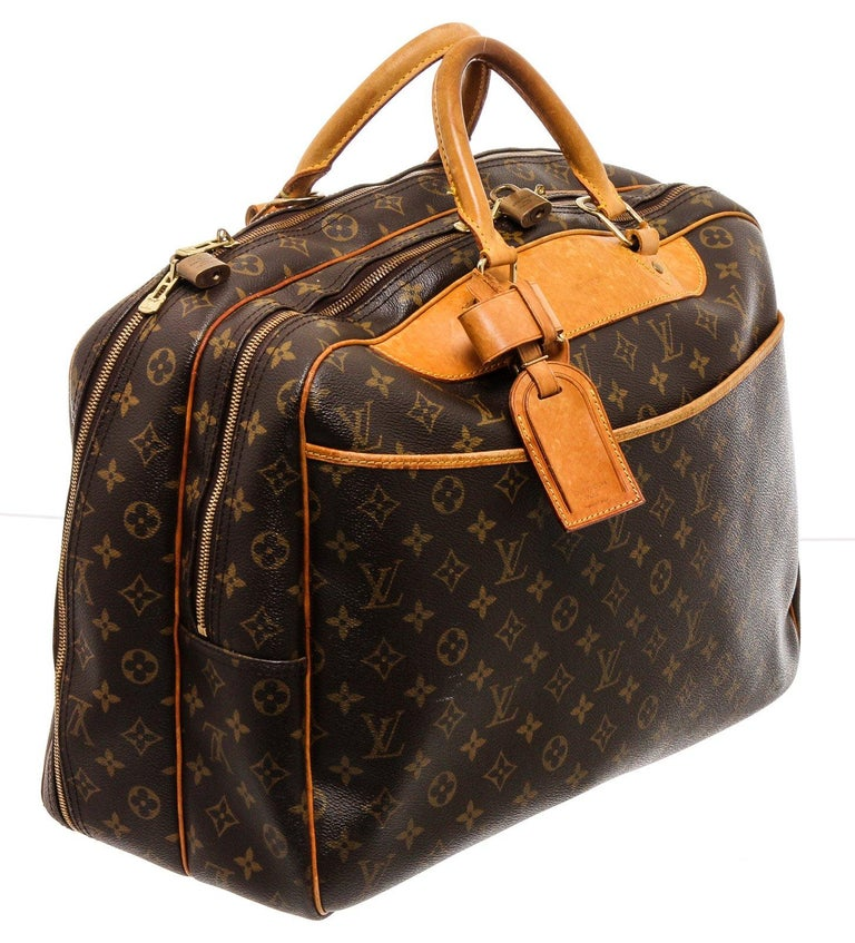 Louis Vuitton Monogram Canvas Leather Alize 2 Poches Luggage For Sale 5
