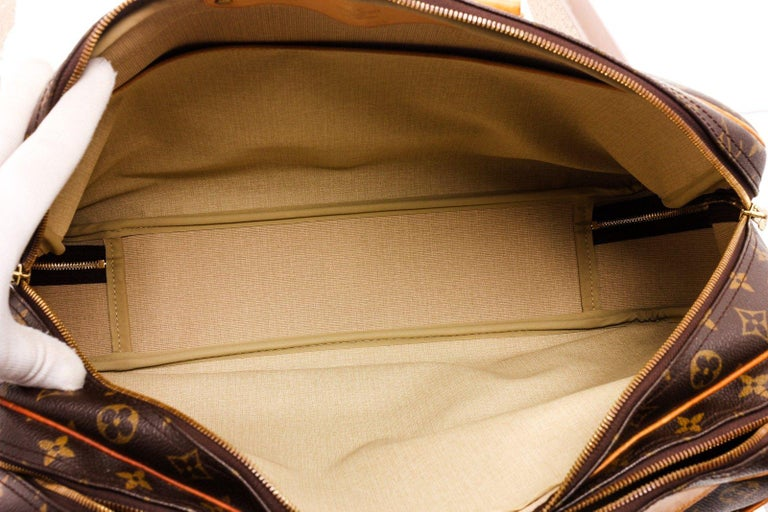 Black Louis Vuitton Monogram Canvas Leather Alize 2 Poches Luggage For Sale