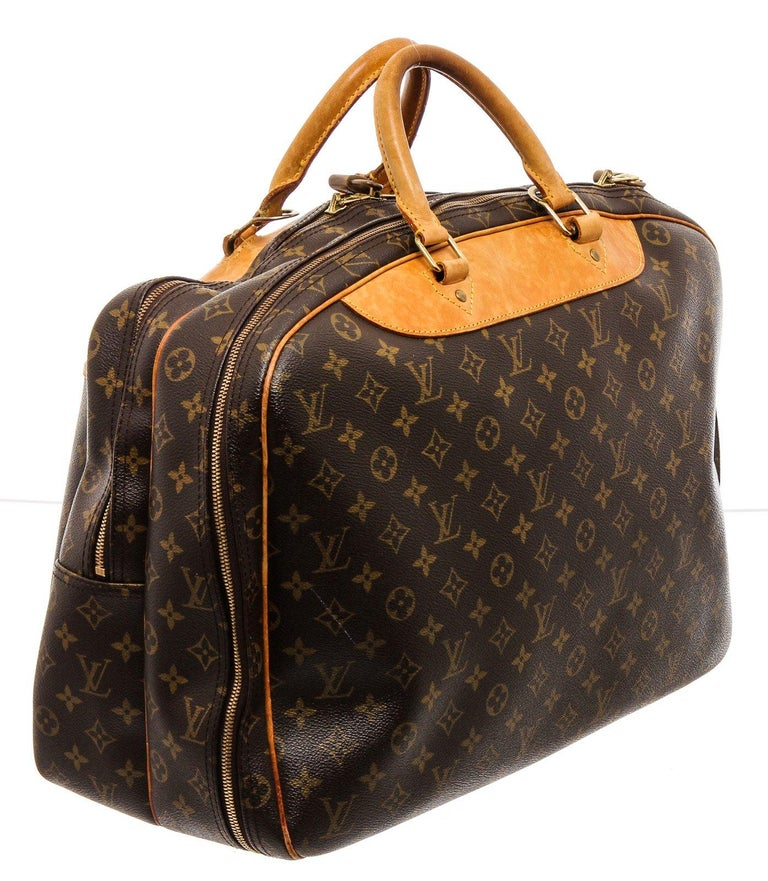Louis Vuitton Monogram Canvas Leather Alize 2 Poches Luggage For Sale 4