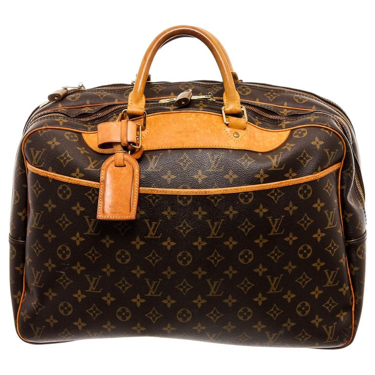Louis Vuitton Monogram Canvas Leather Alize 2 Poches Luggage For Sale