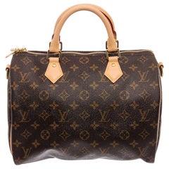 Louis Vuitton Monogram Canvas Leather Bandouliere Speedy 30 Bag