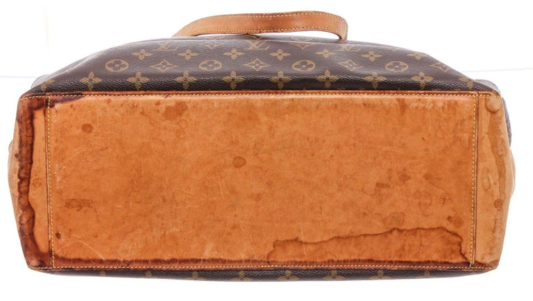 Women's Louis Vuitton Monogram Canvas Leather Cabas Alto Shoulder Bag For Sale