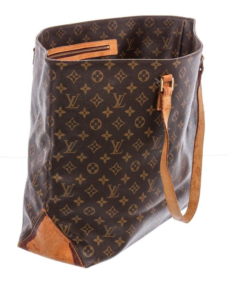 Louis Vuitton Monogram Canvas Leather Cabas Alto Shoulder Bag For Sale 1