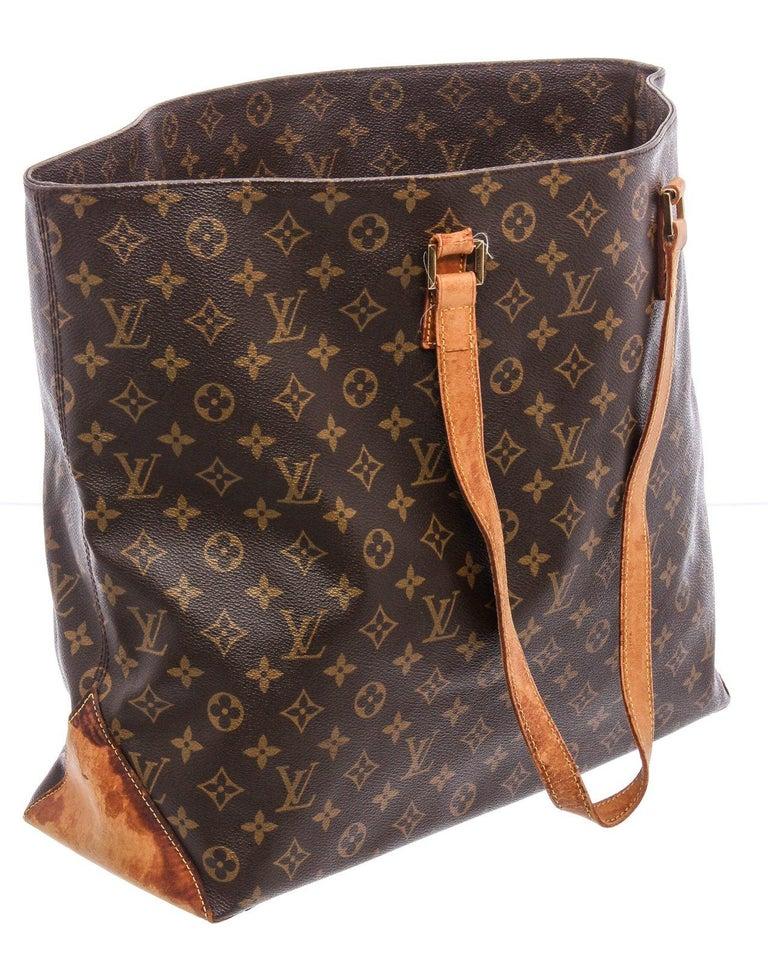 Louis Vuitton Monogram Canvas Leather Cabas Alto Shoulder Bag For Sale 2