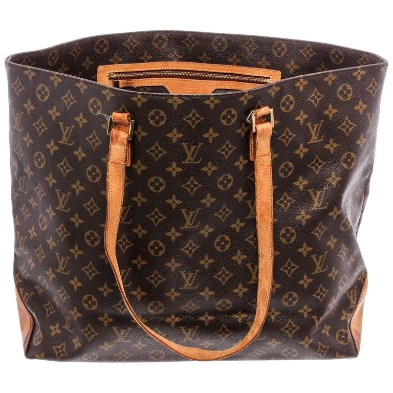 Louis Vuitton Monogram Canvas Leather Cabas Alto Shoulder Bag For Sale