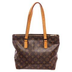 Louis Vuitton Monogram Canvas Leather Cabas Piano Shoulder Bag
