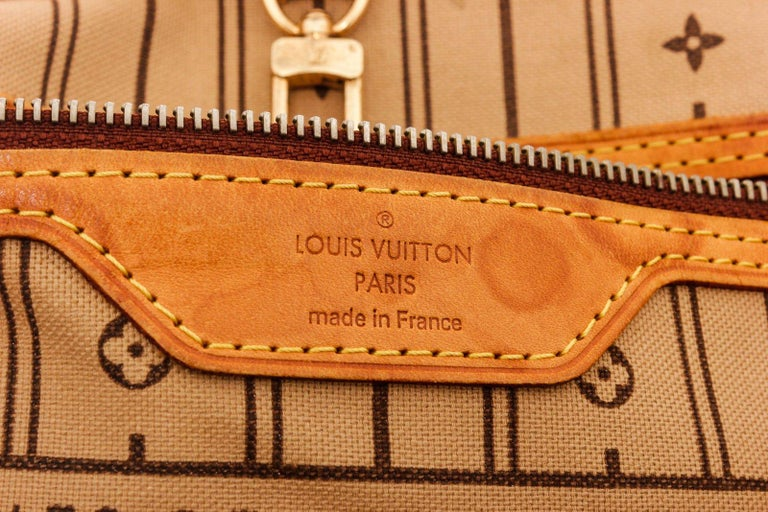 Louis Vuitton Monogram Canvas Leather Neverfull PM Tote Bag In Good Condition For Sale In Irvine, CA